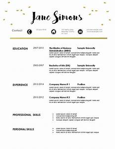 free modern resume template With elegant resume template