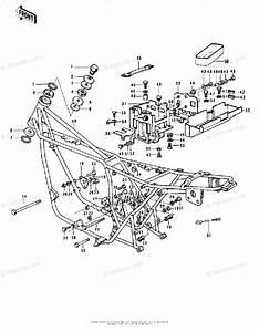 Kawasaki Motorcycle 1973 Oem Parts Diagram For Frame  Frame