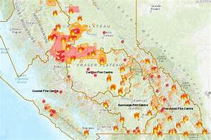 Canada Fires 2018  B C  Wildfire Map Shows Where 566 Fires