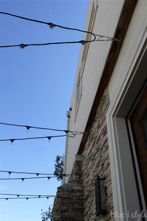 how to hang outdoor string lights how to hang patio string lights blue i style creating