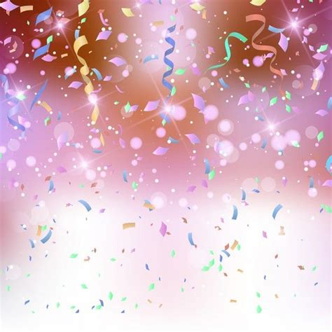 coloured background  confetti  streamers