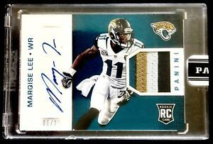 MARQISE LEE 2015 PANINI SUPER BOWL RPA 4 COLOR ROOKIE ...