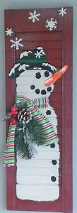 Lighted Poinsettia Shabby Chic Snowman Shutter Holiday Christmas Winter