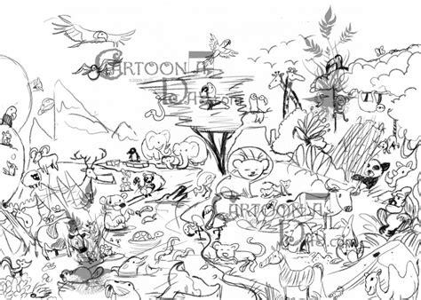 earth day  cartoon animal kingdom cartoon
