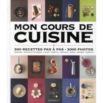 prix cours de cuisine mon cours de cuisine broché collectif achat livre
