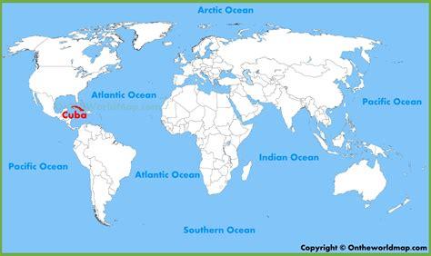 cuba location   world map