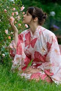 Girl, In, A, Flower, Yukata, Stock, Image, Image, Of, Garden, Young