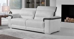 Arizona cuir tetieres relevables personnalisable sur for Nettoyage tapis avec canape cuir relax moderne