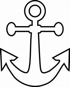 Simple Anchor Tattoo Coloring Pages