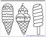 Ice Coloring Cream Pages Drawing Title sketch template