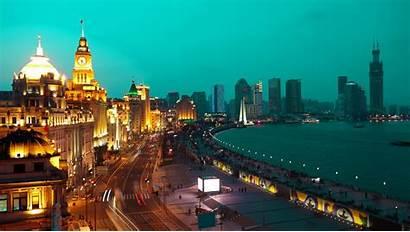 Shanghai Wallpapers Waitan China Bund Night Background