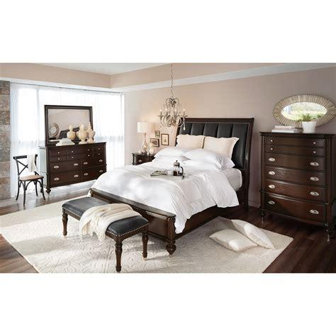 esquire queen bed merlot american signature furniture