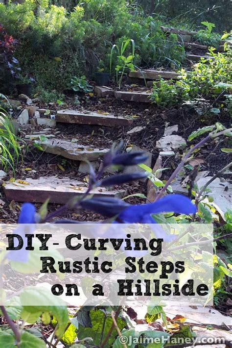 carving rustic stone steps   hillside  flagstone
