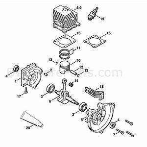 Stihl Kw 85 Sweeper Drum  Kw85  Parts Diagram  Crankcase