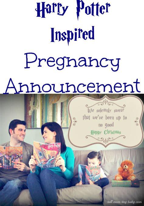 harry potter pregnancy announcement ad pregnancy
