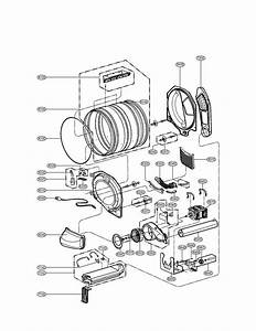 Drum And Motor Parts Assembly Diagram  U0026 Parts List For