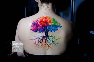 watercolor tree tattoo by TattoosByCata on DeviantArt