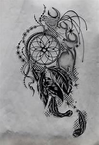 Attrape Reve Tatoo : dessin attrape reve 3 design ~ Nature-et-papiers.com Idées de Décoration