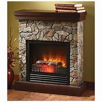 "electric stone fireplace CASTLECREEK™ Electric ""Stone"" Fireplace Heater - 227153 ..."