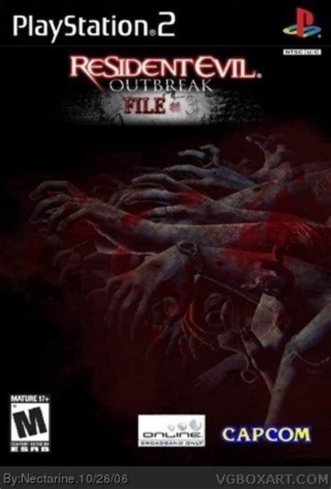 resident evil outbreak file  playstation  box art cover