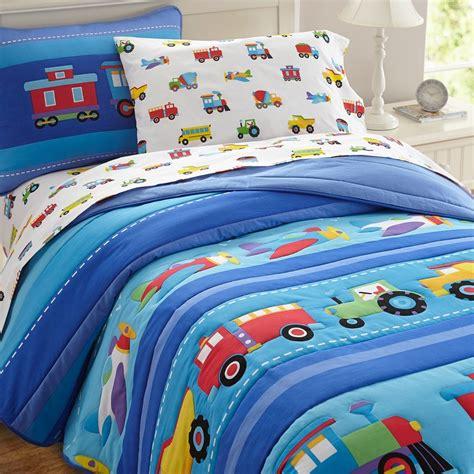 kid bedding olive trains planes trucks toddler comforter