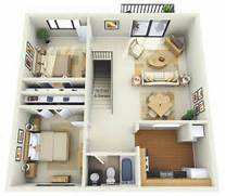 2 Bedroom Garage Apartment 50 Two 2 Bedroom Apartment House Plans Appartements Appartemen