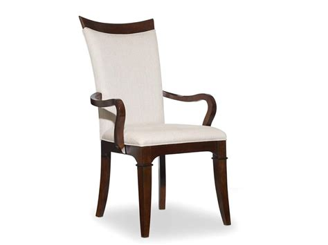 upholstered high back dining chair with wooden arms