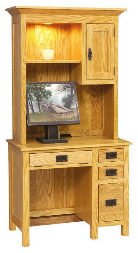 small mission desk  hutch top  dutchcrafters amish