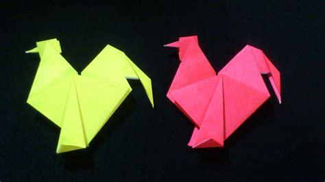 origami roaster ayam jago origami chicken youtube