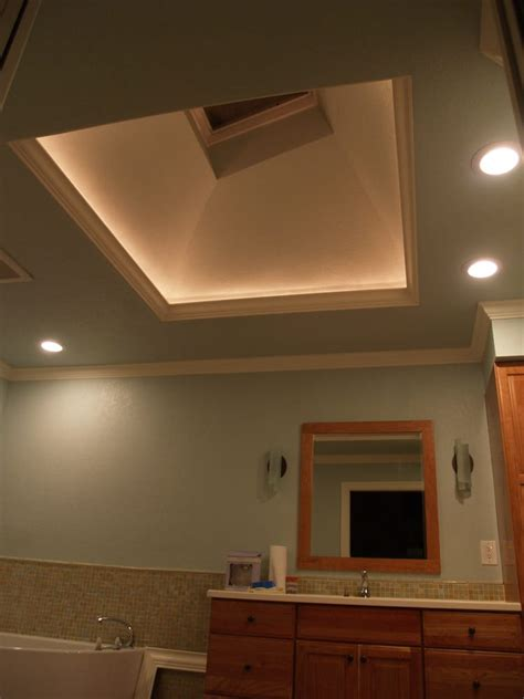 illuminated skylight opening  led lights hidden