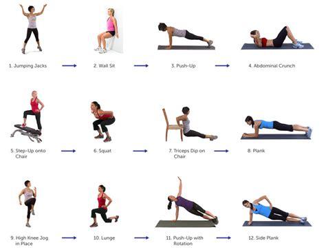 Circuit oefeningen fitness