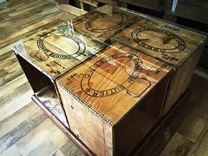Table Basse Caisse Bois : diy une table basse avec des caisses de bois d conome ~ Nature-et-papiers.com Idées de Décoration