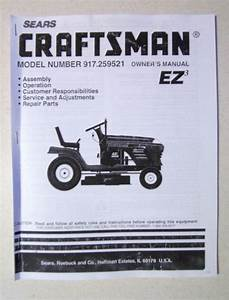 Sears Craftsman 42 U0026quot  Lawn Tractor Owner U0026 39 S Manual 917 259521
