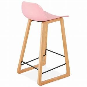 Tabouret De Bar Rose : tabouret de bar chaise de bar mi hauteur scandinave scarlett mini rose poudr ~ Teatrodelosmanantiales.com Idées de Décoration