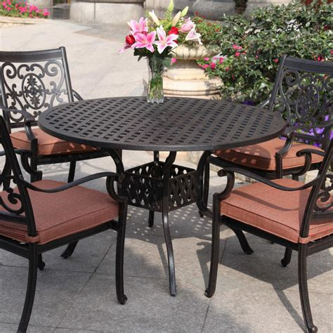 darlee st 5 cast aluminum patio dining set