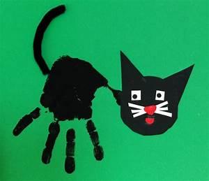 Katze mit Handabdruck Kinderspiele Welt de