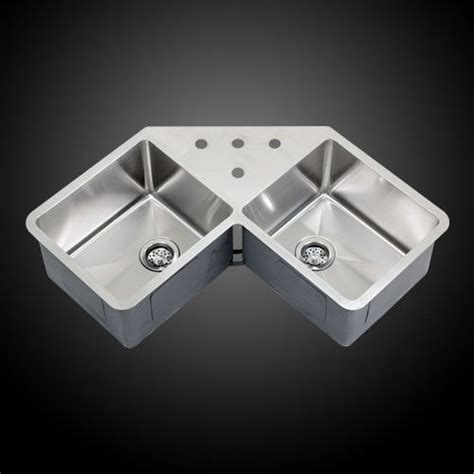 stainless steel undermount corner sink ticor tr1400 36 quot undermount stainless steel corner