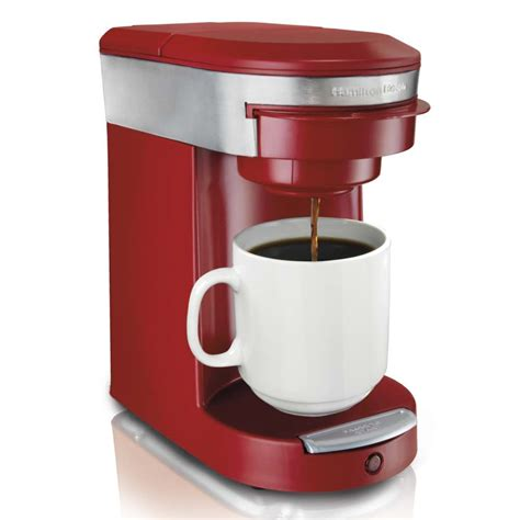 My original rationale for researching single cup brewers with grinders was for someone who travels a lot and can't stomach those cheesy little coffeemakers they put in motel rooms. Shop Hamilton Beach Personal Cup 1-cup Pod Brewer w/ Starter Bag of 18 Senseo Pods - Free ...