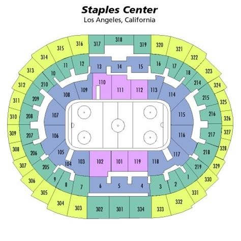 staples center seating chart views  reviews los