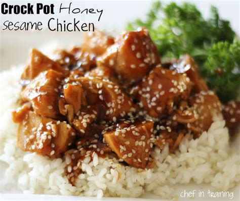 chicken thighs crock pot recipes asian honey sesame chicken crock pot keeprecipes your universal recipe box