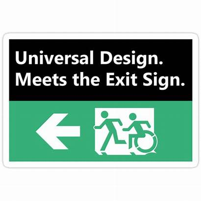 Universal Exit Sign Meets Redbubble