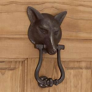 Solid, Bronze, Fox, Door, Knocker