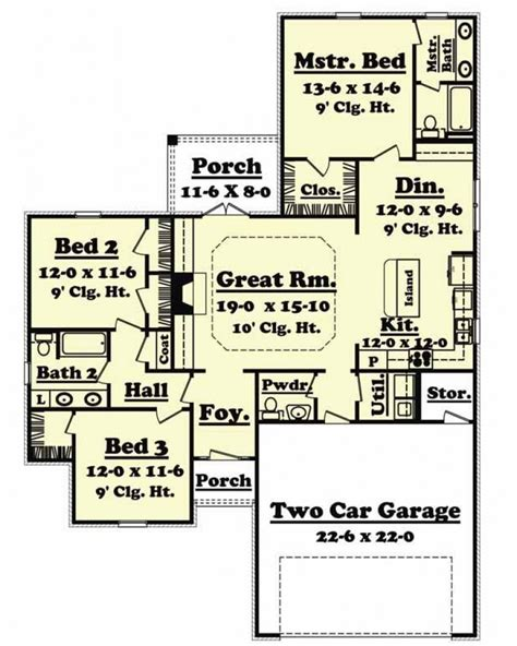 amazingplanscom house plan bb   country ranch traditional narrow lot
