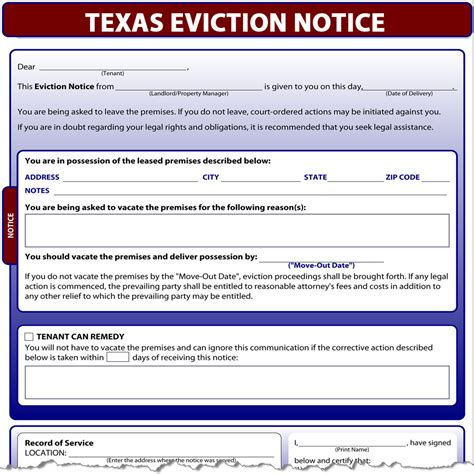 Free Eviction Forms Texas by Texas Eviction Notice