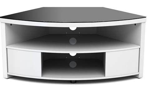 Furniture Modern White Corner Tv Stand With Media Storage