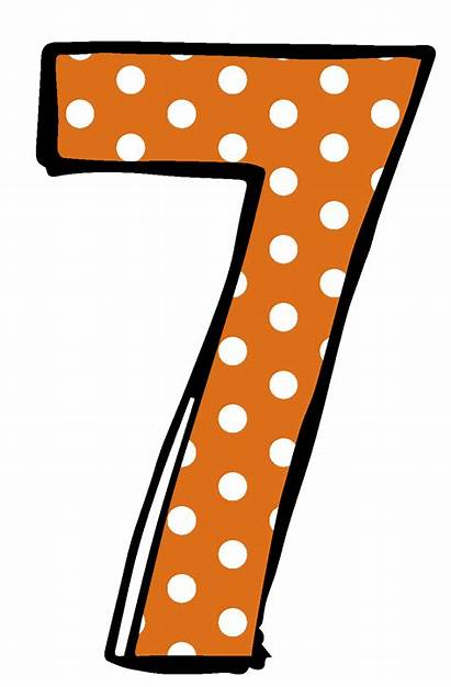 Number Clipart Cliparts Numbers Dot Polka Seven