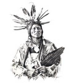 Native American Indian Pencil Drawings