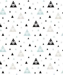 papier peint enfant montagnes noir et turquoise graphism