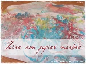 Faire Briller Le Marbre : faire son papier marbr version maternelle la cour des ~ Dailycaller-alerts.com Idées de Décoration