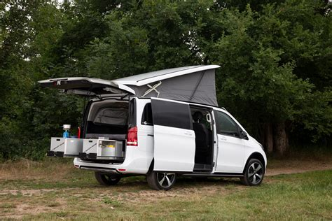 See photos, videos, floorplans and more of the compact, luxurious unity, built on the mercedes sprinter cab chassis. Tuned Mercedes-Benz Marco Polo Horizon Camper Van Targets Outdoor Lovers | Carscoops